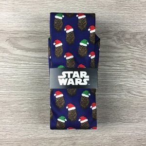 Star Wars Navy Chewbacca Christmas Tie
